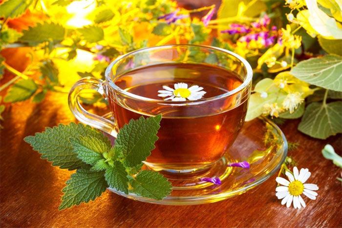 чай из мяты и ромашки