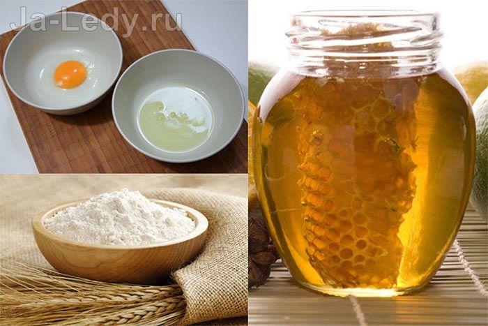 маска из белка и мёда