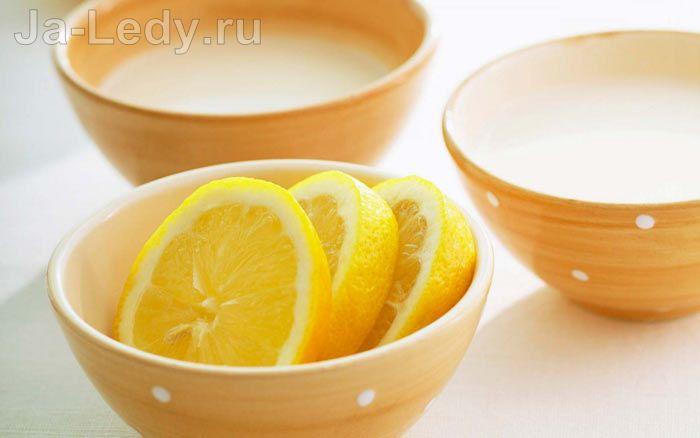 маска из яичного белка и лимона