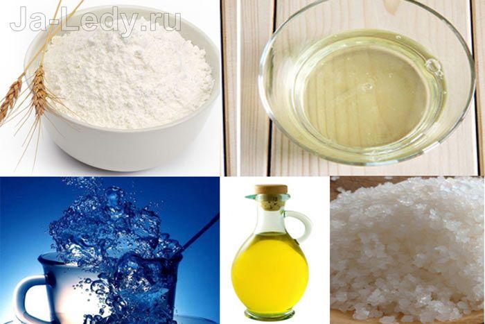 различные комбинации ингредиентов в белковых масках